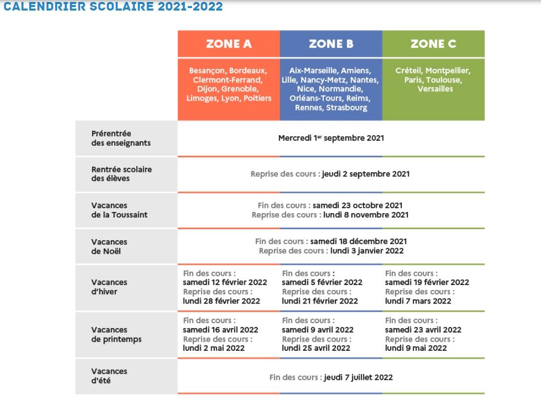 Calendrier Scolaire Mai 2020.Calendier Scolaire Evasion Vacances Aventure